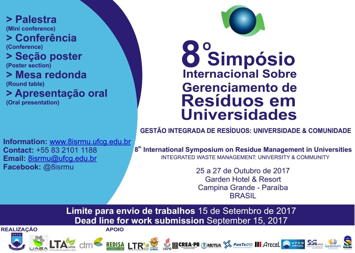 8° Simpósio Internacional sobre Gerenciamento de Resíduos em Universidades