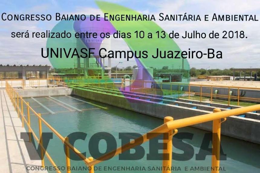 V Cobesa. Congresso Baiano de Engenharia Sanitária e Ambiental